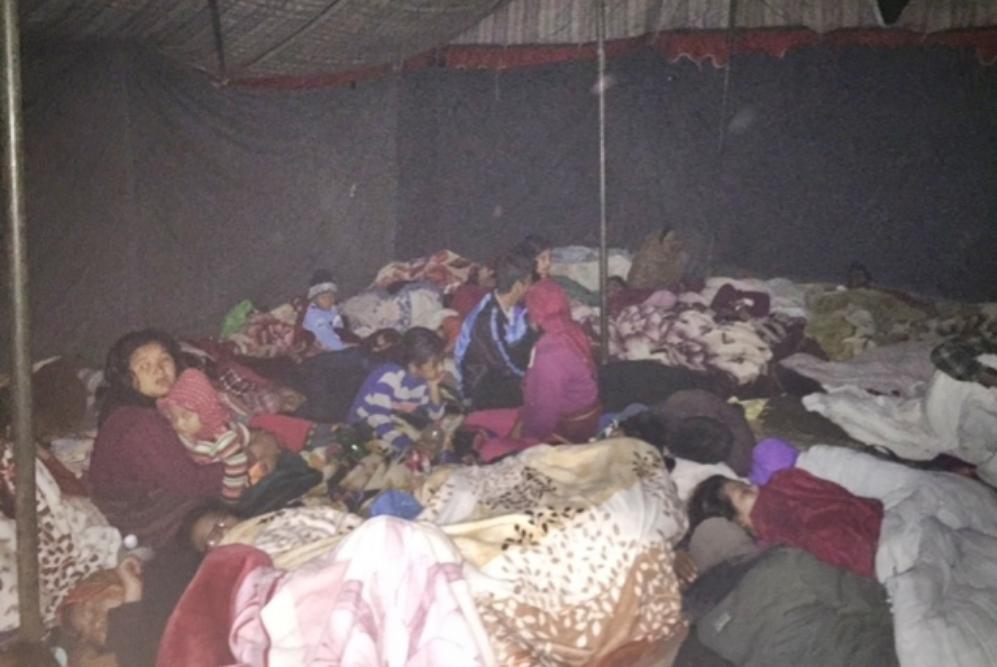Gente durmiendo en la calle en Katmandú