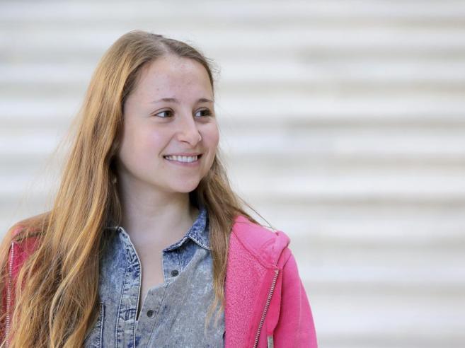 Violeta Rius, fotografiada en la Facultad de Medicina de Valencia.