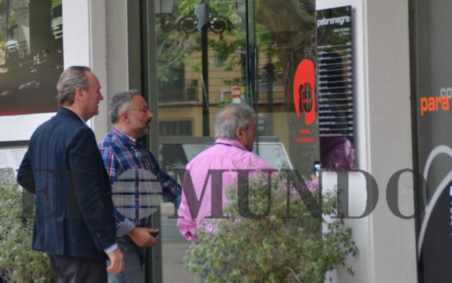 Alberto Fabra y Alfonso Rus este sábado en Xàtiva. El jefe del...
