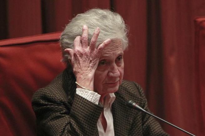 Marta Ferrusola durante su declaración en la comisión de...