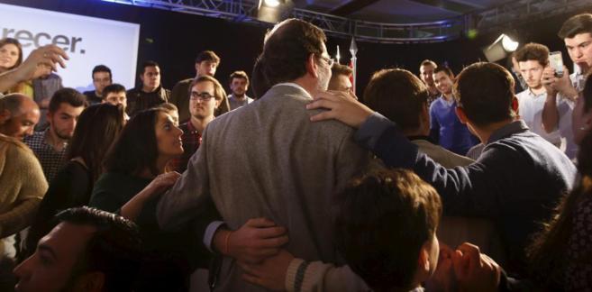 Rajoy, durante un acto del partido ayer en Salamanca.