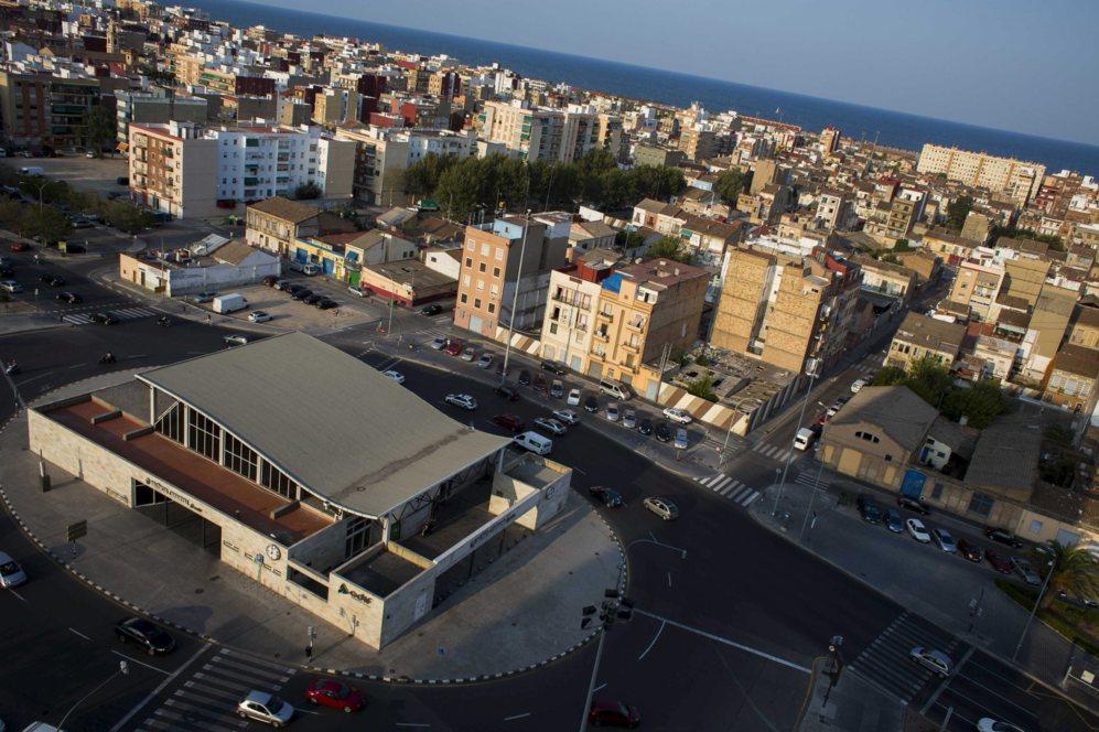 Imagen aérea del barrio de El Cabanyal por donde discurriría la...