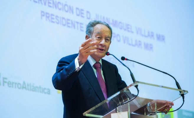 Juan Miguel Villar Mir, accionista de Colonial, durante una...