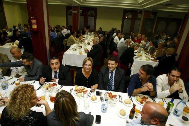 La ex alcaldesa de Alicante, Sonia Castedo, en una cena de apoyo tras...
