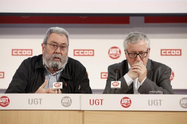 Candido Méndez, Secretario General de UGT (dcha.) e Ignacio...