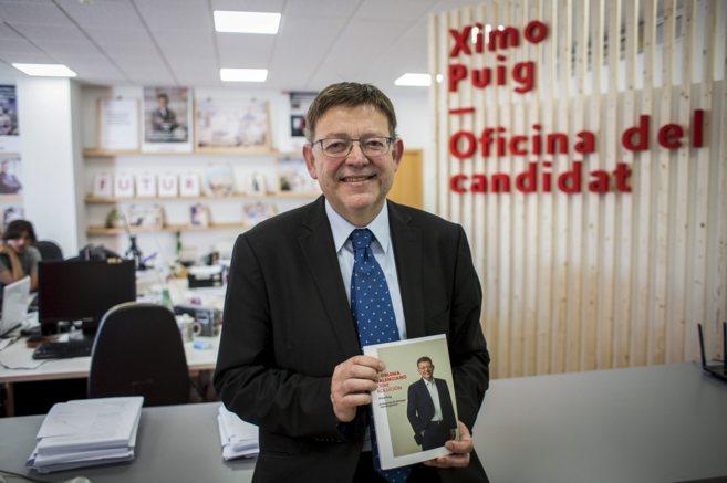 El candidato socialista presenta su libro 'El problema valenciano...