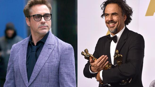 Robert Downey Junior y González Iñarritu, en una imagen reciente.
