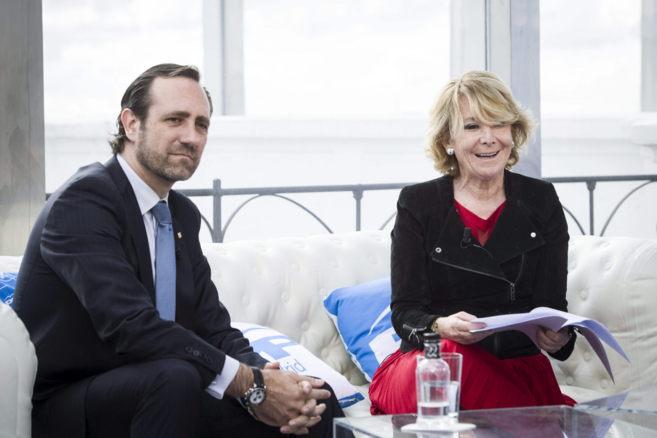 José Ramón Bauzá y Esperanza Aguirre, durante la reunión que ha...