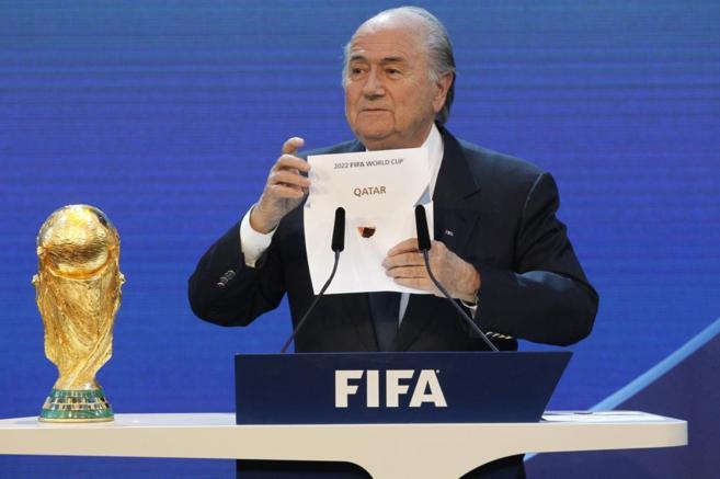 Blatter, en el anuncio de Qatar como sede del Mundial de Fútbol 2022