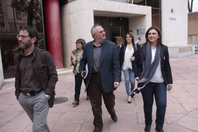 Los concejales del grupo socialista de Granada comienzan a declarar en...