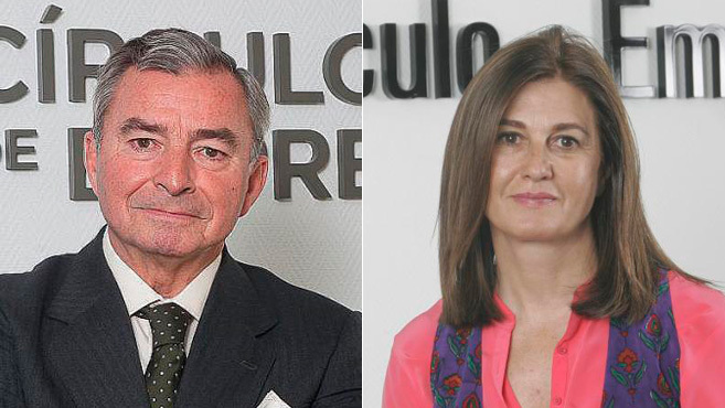 Javier Vega de Seoane y Mónica de Oriol.