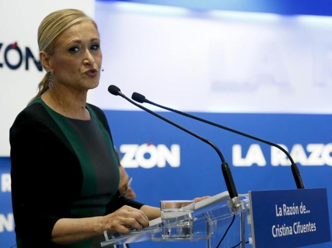 La candidata 'popular' a la Alcaldía de Madrid, Cristina...