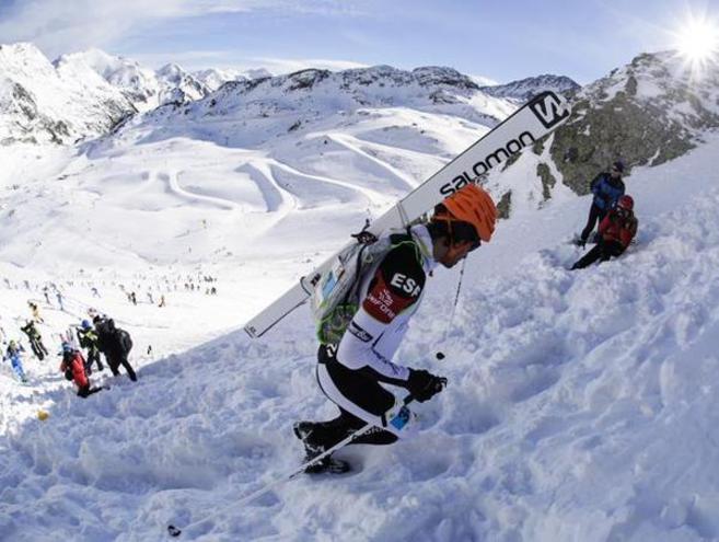 Kilian Jornet en una prueba de la Copa del Mundo de esquí de...