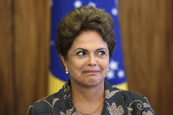 Dilma Rousseff en un acto en el Palacio del Planalto, en Brasilia