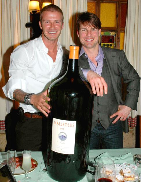 Beckham y Cruise, en una foto de archivo.
