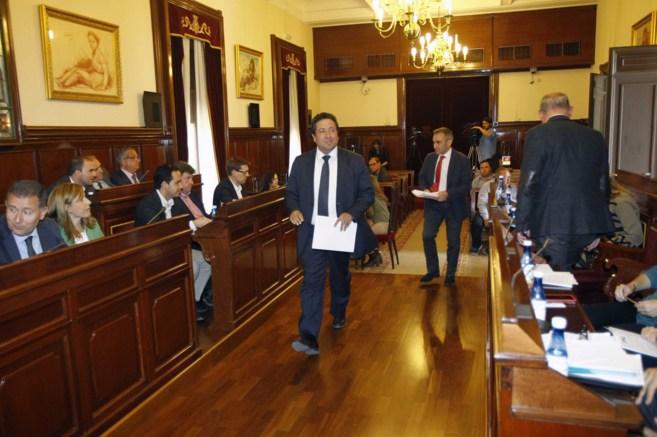 El presidente de la entidad, Javier Moliner, este martes, al inicio de...