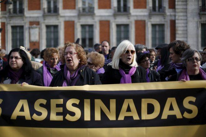 Concentración en Madrid contra los crímenes machistas.