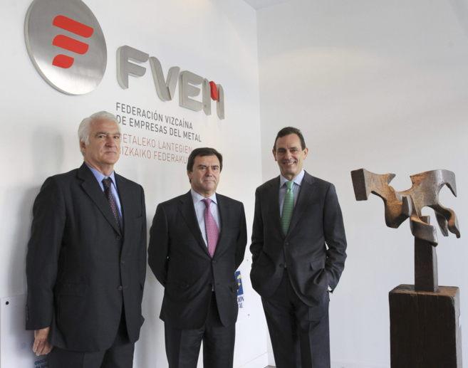 Javier Arteche, José Luis López Gil y Jaime Fernández, hoy en...