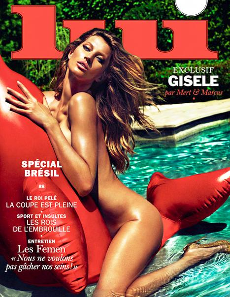 No es la primera vez que Gisele se desnuda para la portada de una...