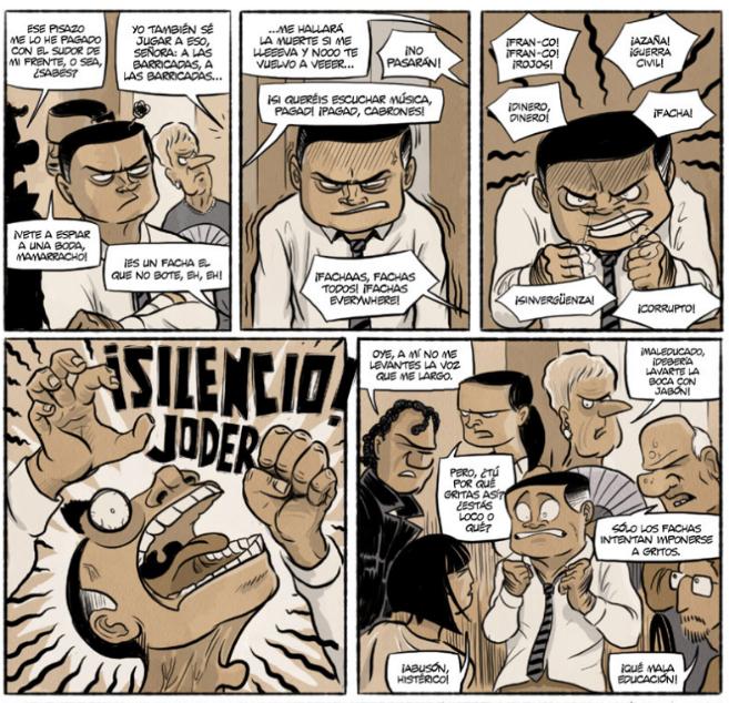 Una de las páginas del cómic 'Chorizos. Atraco a la...