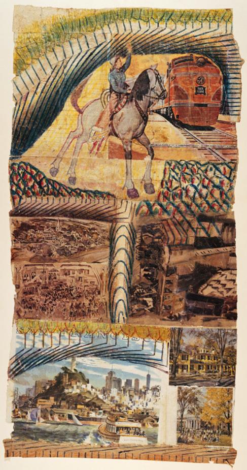 Collage de piezas expuestas en el Museum of Fine Arts, Bern,...