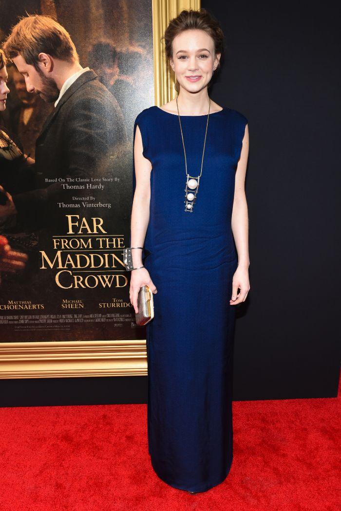La actriz Carey Mulligan, muy elegante anoche en el estreno de 'Far...