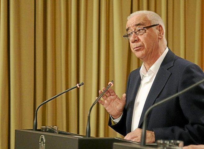 El consejero Luciano Alonso, en su comparecencia ante la prensa.
