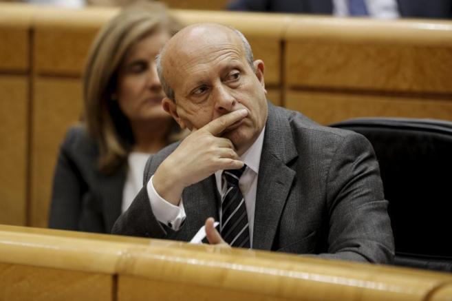 José Ignacio Wert, en la sesión de control al Gobierno en el Senado.