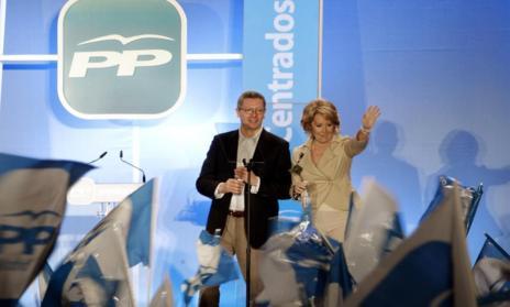 Gallardón y Aguirre, durante la campaña electoral del año 2011.