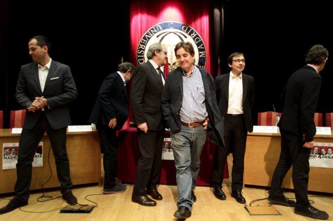 De izquierda a derecha: Ignacio Aguado,Antonio Rubio, Ángel...