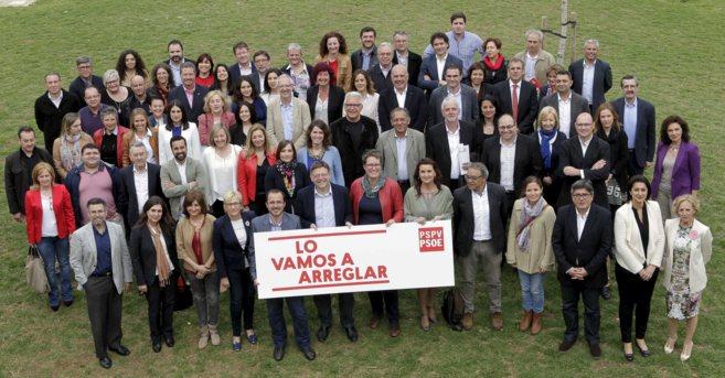 Fotos de los candidatos del PSPV a las Cortes Valencianas.