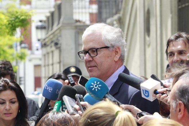 El ex interventor general de la Junta, Manuel Gómez, a su salida del...