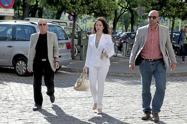 La juez Mercedes Alaya a la llegada a los juzgados de Sevilla.