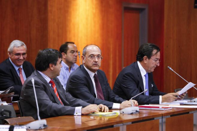 El dueño de Aifos, Jesús Ruiz Casado, durante la junta de acreedores...