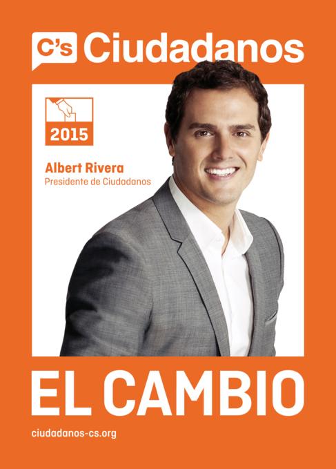 Cartel electoral de Ciudadanos