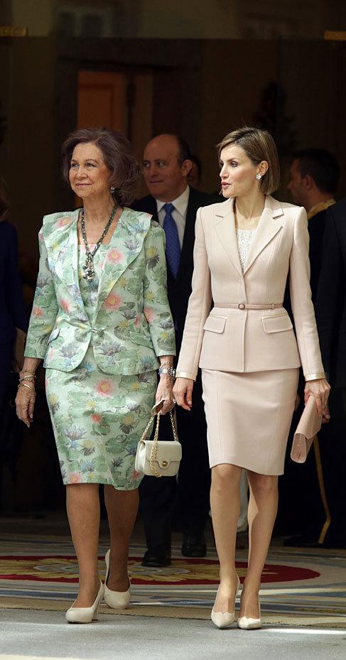 Doña Sofía y Doña Letizia, este miércoles.