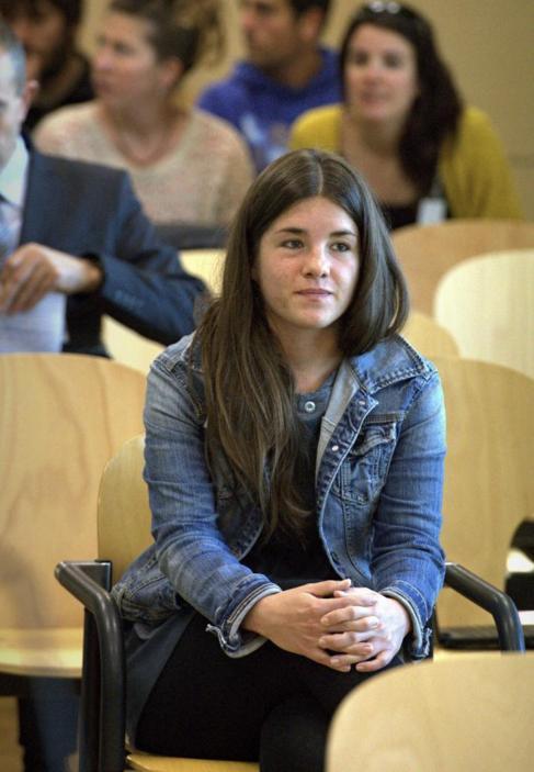 La etarra Ohiana Mardarás, durante el juicio en la Audiencia...