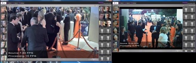El sistema de reconocimiento facial funcionando durante los últimos...