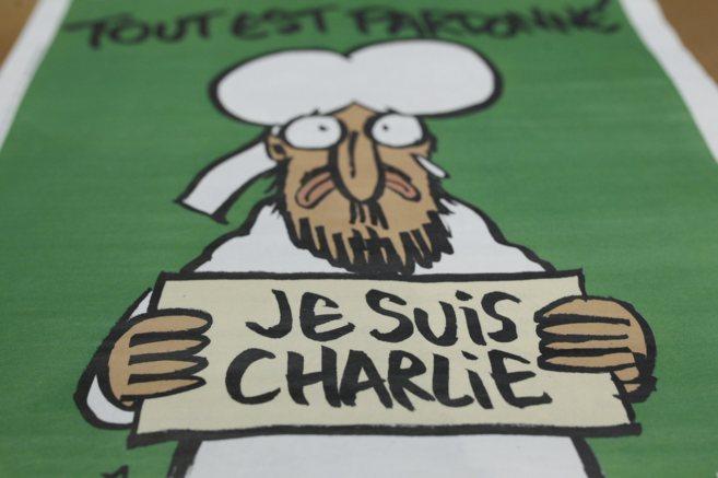 Portada del primer número de 'Charlie Hebdo' tras el...