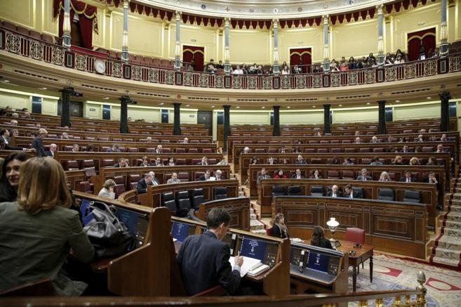 Parlamentarios durante una votación en el Congreso de los Diputados.