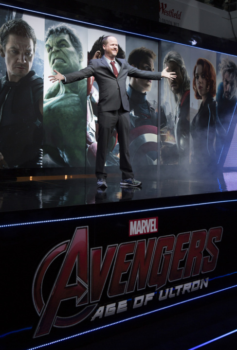 Joss Whedon, durante la presentación de 'Vengadores: La era de...