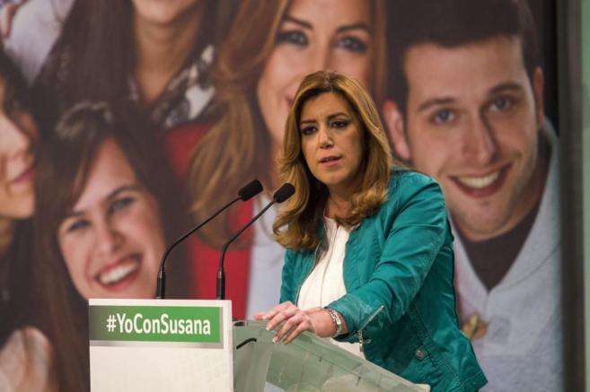 Susana Díaz, durante un acto del PSOE en Jerez de la Frontera durante...