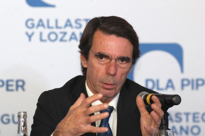 Aznar, en un celebrado en México.