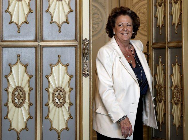 La alcaldesa, ayer en su despacho del Ayuntamiento.