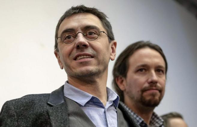 Juan Carlos Monedero y Pablo Iglesias el pasado mes de febrero.