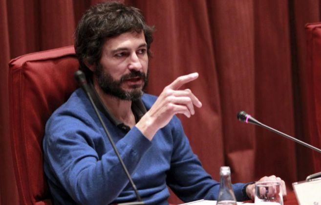 Oleguer Pujol en la comisión anti-fraude del Parlamento de Cataluña.