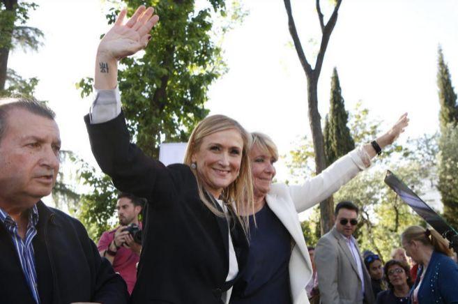 Cifuentes, durante un acto electoral.