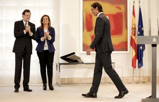 Rajoy, con Fátima Báñez  en la entrega a Rafa Nadal de la Medalla...