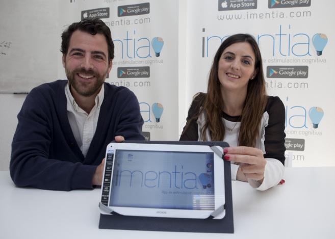 Diego y Marta Gil son los responsables de la aplicación Imentia.