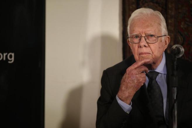 El ex presidente de EEUU Jimmy Carter, este sábado en Jerusalén.